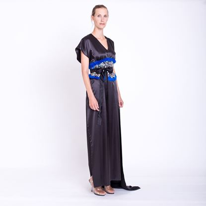 Picture of Black silk dress