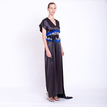 Obrázek Černé saténové šaty
