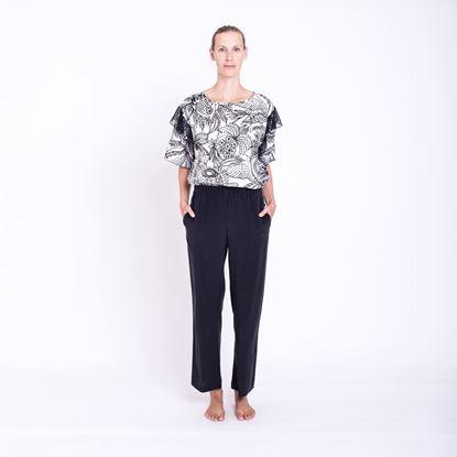 Obrázek Černé hedvábné kalhoty