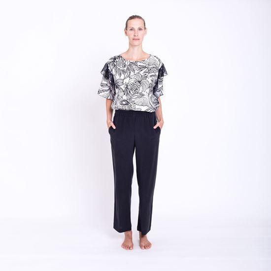 Obrázek z Černé hedvábné kalhoty
