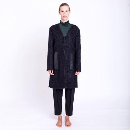 Obrázek Kabát s koženými prvky
