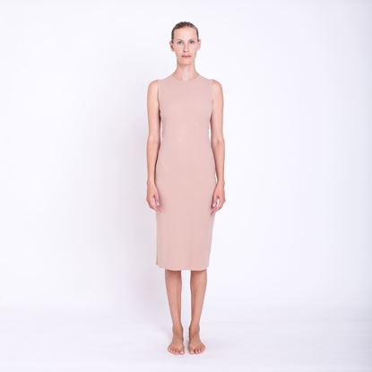Picture of Jersey beige dress