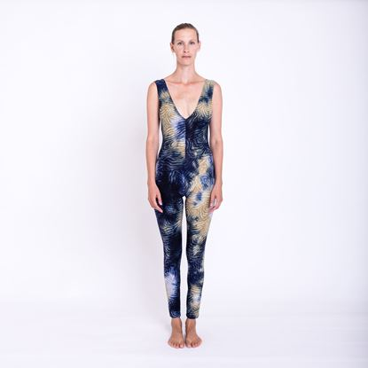 Picture of Backless blue jumpsuit