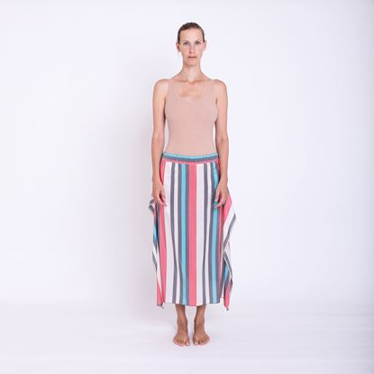 Picture of Stripe print silk skirt