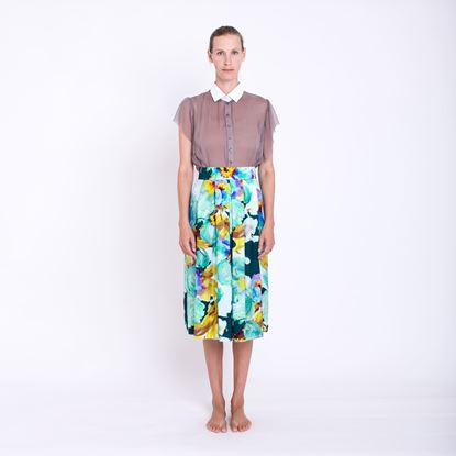 Obrázek Hedvábná skládaná sukně