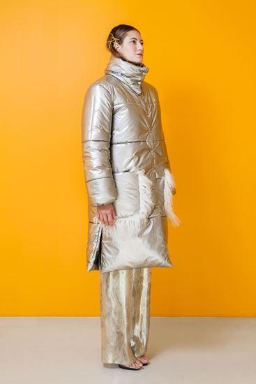 Obrázek z Stříbrný prošívaný kabát