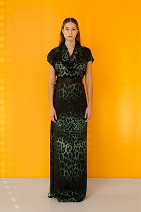 Picture of Leopard print silk dress