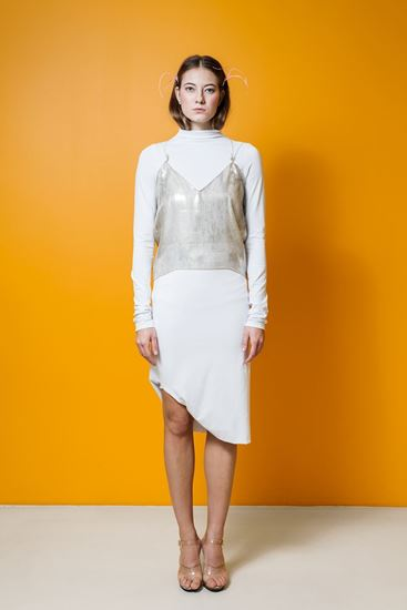 Picture of White jersey skirt