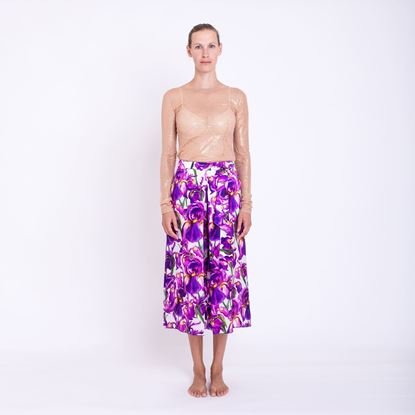 Picture of Silk trouser skirt
