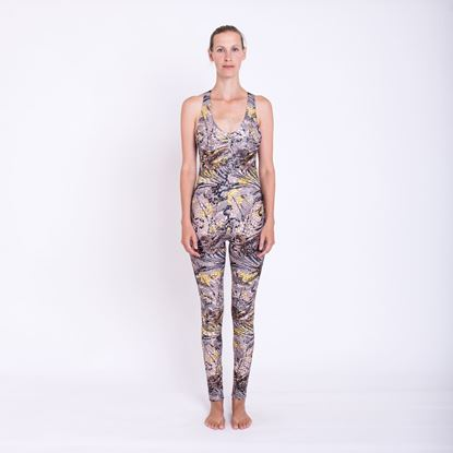 Picture of Golden detailed backless jumpsuit