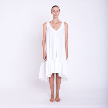 Picture of White ruffle dress