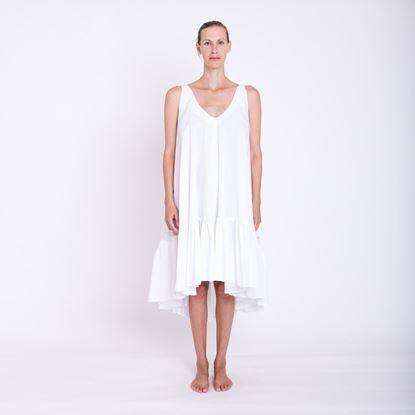 Obrázek Bíle šaty s volánem