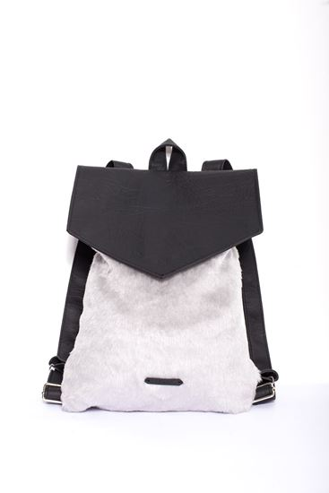 Picture of Fur trimmed backpack