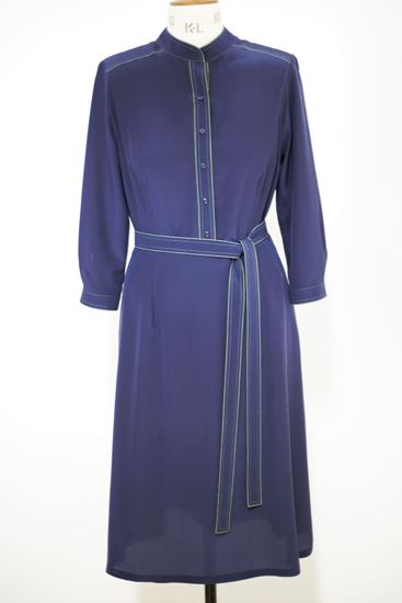 Picture of Silk visible thread dress