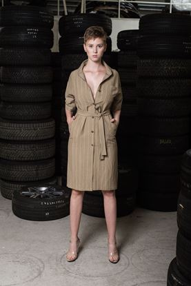 Picture of Shirt linen dress