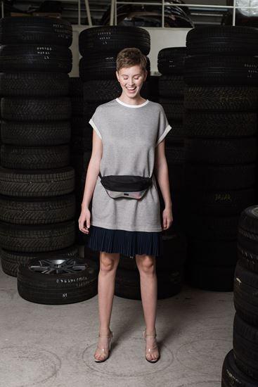Obrázek z Úpletové šaty s plisováním