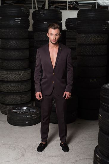 Picture of Made to Measure suit EGGPLANT