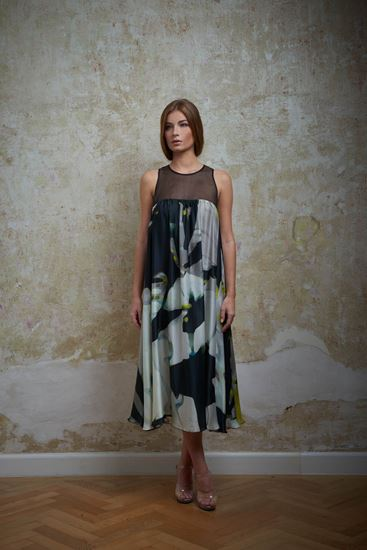 Picture of Silk print dress
