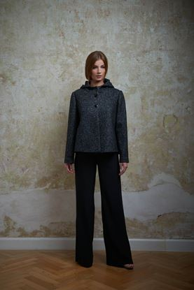 Obrázek Vlněný kabátek s kapucí