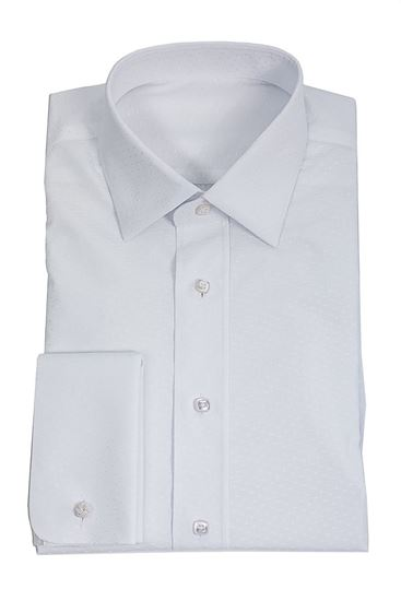 Picture of Shirt bespoke white jacquard