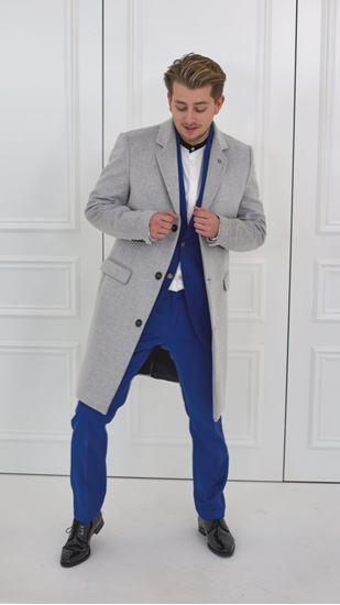 Obrázek z Vlněný kabát GREY