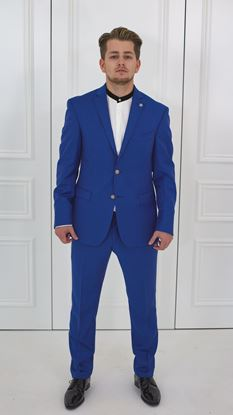 Picture of Made to Measure suit ELETRIC BLUE