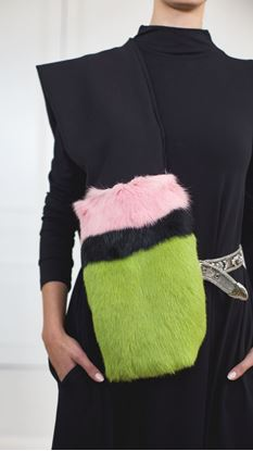 Picture of Fur trimmed scarf
