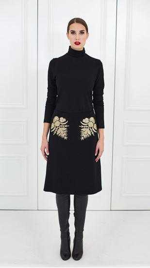 Picture of Wool embroidery trimmed skirt