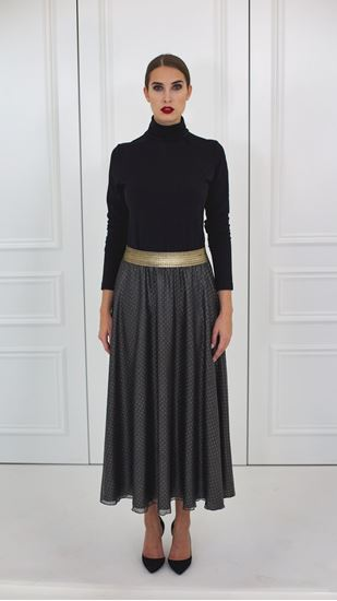 Picture of Black silk circle skirt