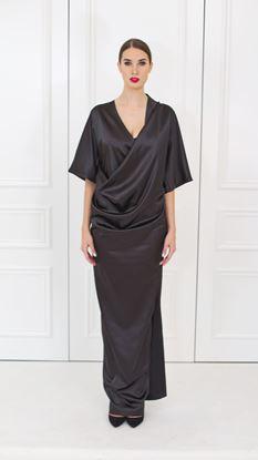 Obrázek Černé večerní zavinovací šaty