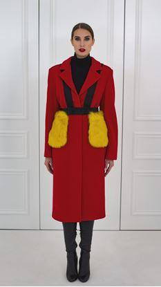 Picture of Červený vlněný kabát