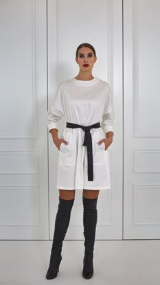 Obrázek Bílé bavlněné basic šaty