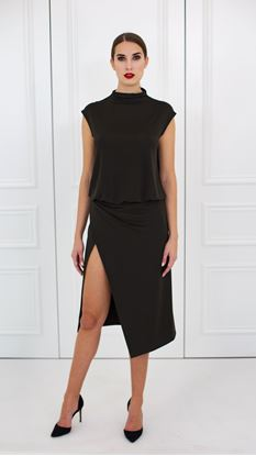Picture of Business wrap jersey dress