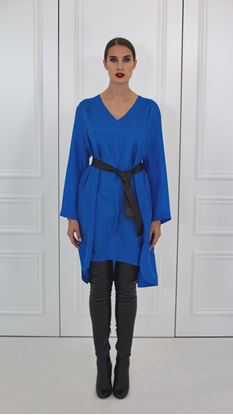 Picture of Blue basic silk dress