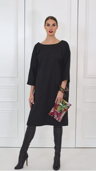 Picture of Black cotton basic dress