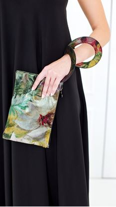 Picture of Leather print clutch