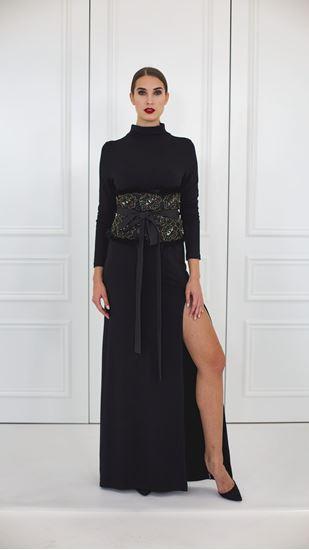 Obrázek z Ledvinový pás s černou krajkou