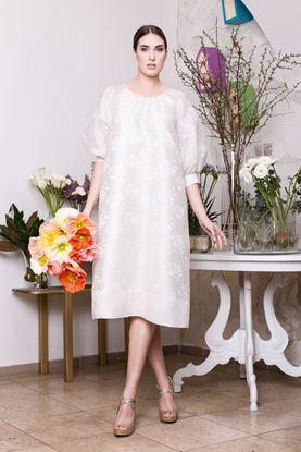 Obrázek Bílé svatební šaty s aplikací