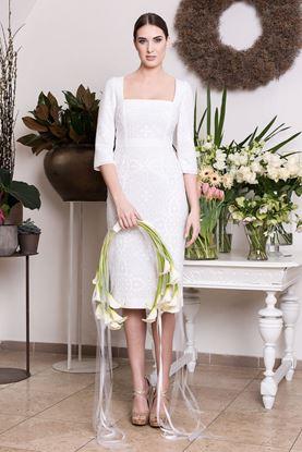 Obrázek Bílé krajkové svatební šaty