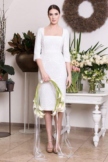 Obrázek z Bílé krajkové svatební šaty