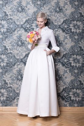 Picture of White wedding skirt