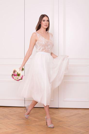 Picture of White layered chiffon skirt