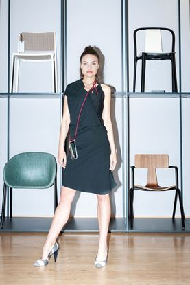 Picture of Asymmetric jersey dress