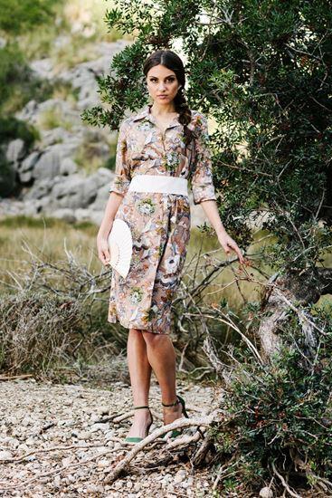 Obrázek z Košilové šaty s květinovým potiskem