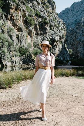 Obrázek Bílá hedvábná sukně