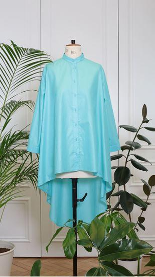 Obrázek z Košile s frakem tyrkysová