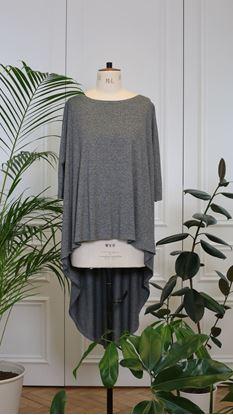 Obrázek Triko s frakem tmavě šedé