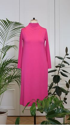 Obrázek Rolákové šaty růžové