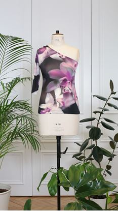 Picture of One-shoulder top flower print