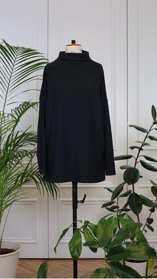 Obrázek z Basic rolákové triko s dlouhým rukávem černé